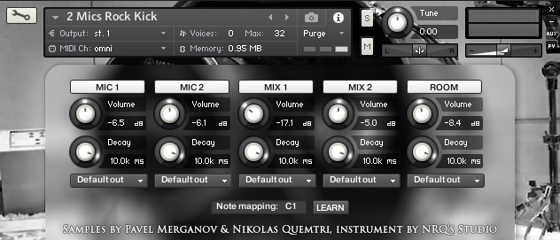 2 Mics Rock Kick – free kick drum samples