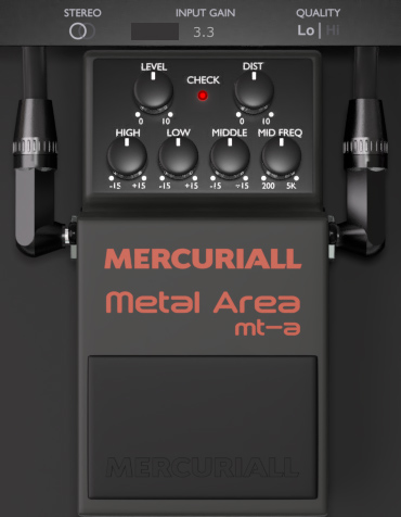 Mercuriall MT-A free VST Metal Zone plugin (+free cabinet IR)