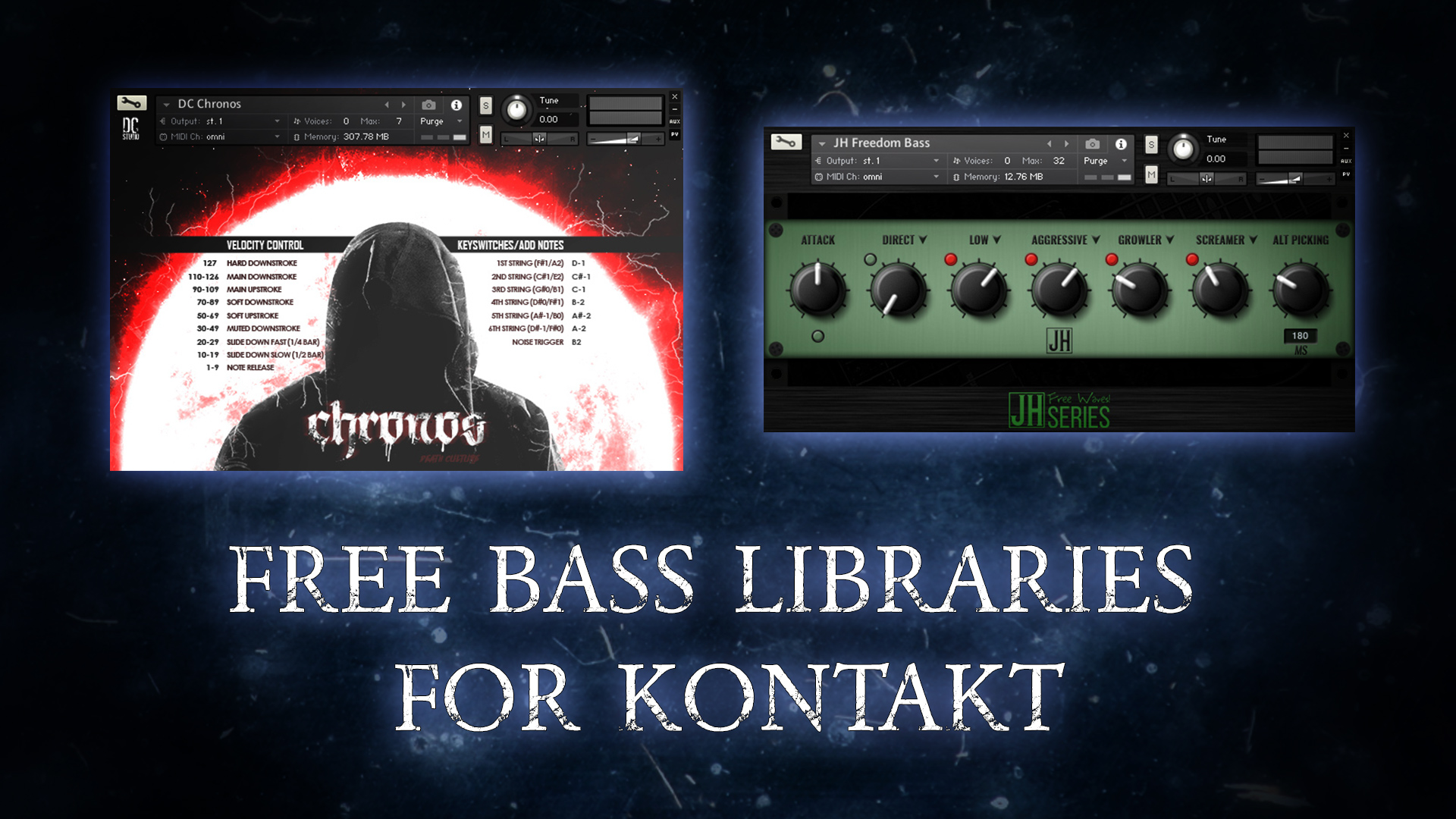 Free bass sample libraries for NI Kontakt (NKI) - NRQ's Studio